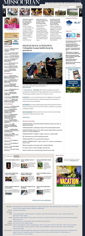 Columbia Missourian at Friday Aug. 29, 2014, 3:03 p.m. UTC