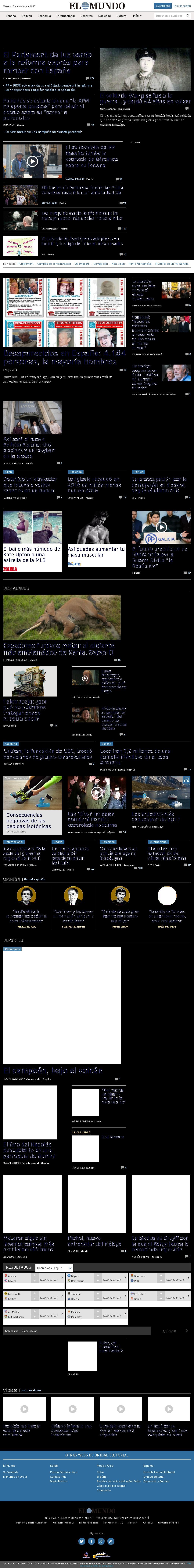 El Mundo at Tuesday March 7, 2017, 2:14 p.m. UTC
