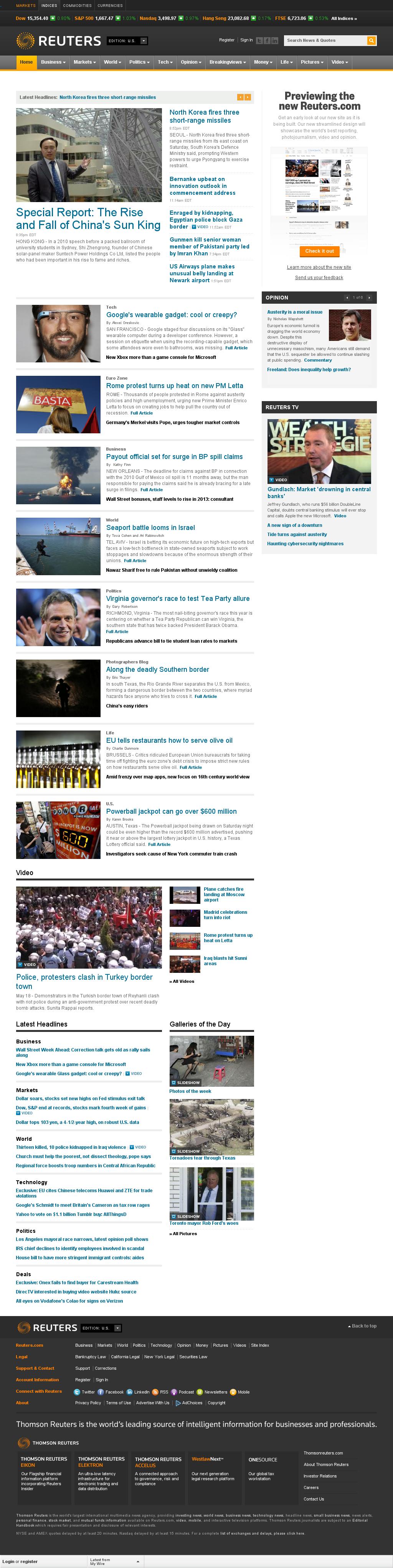 Reuters at Sunday May 19, 2013, 1:26 a.m. UTC