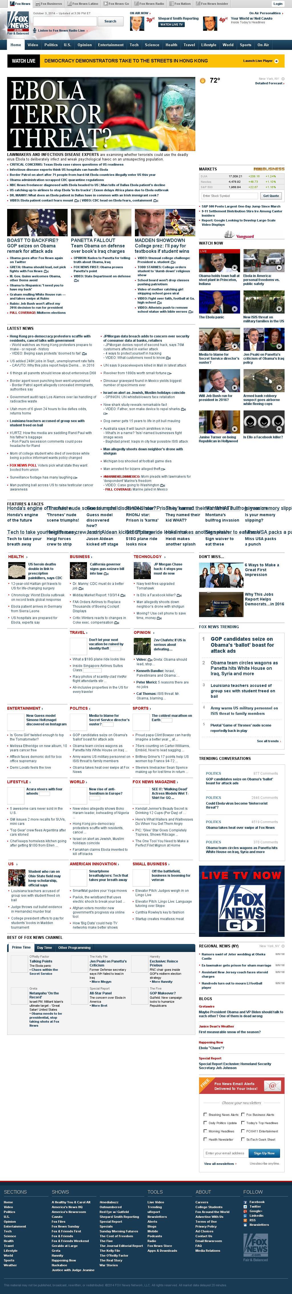 Fox News at Friday Oct. 3, 2014, 8:06 p.m. UTC