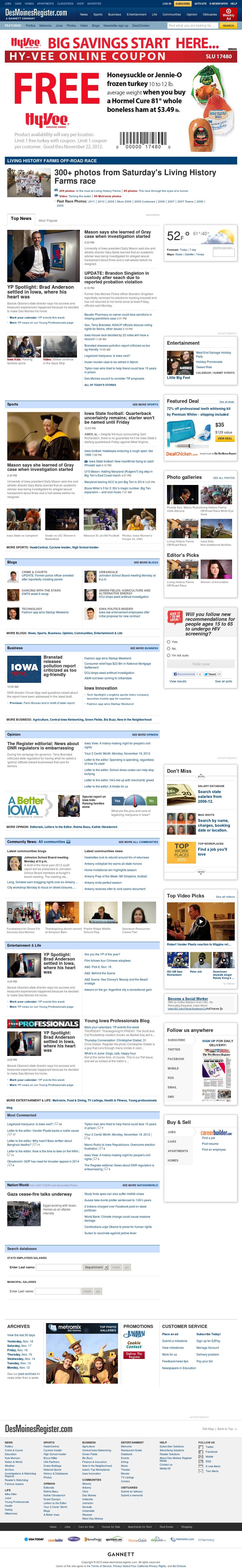 DesMoinesRegister.com at Tuesday Nov. 20, 2012, 3:08 a.m. UTC