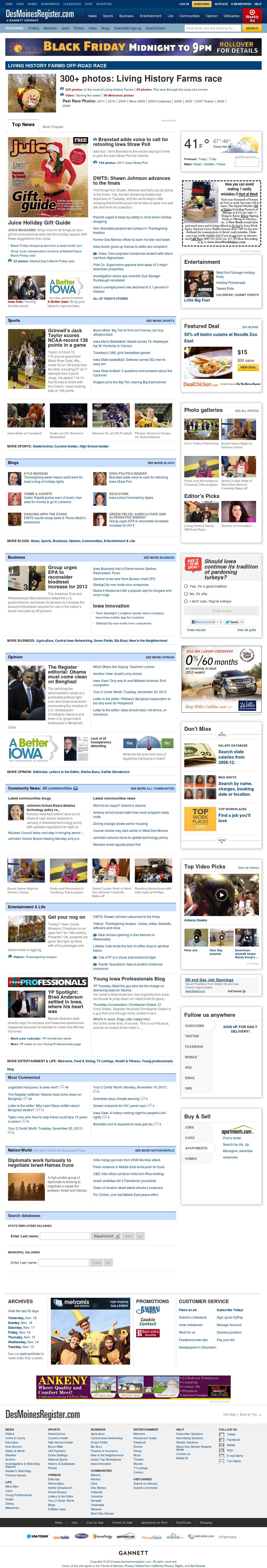 DesMoinesRegister.com at Wednesday Nov. 21, 2012, 8:06 a.m. UTC