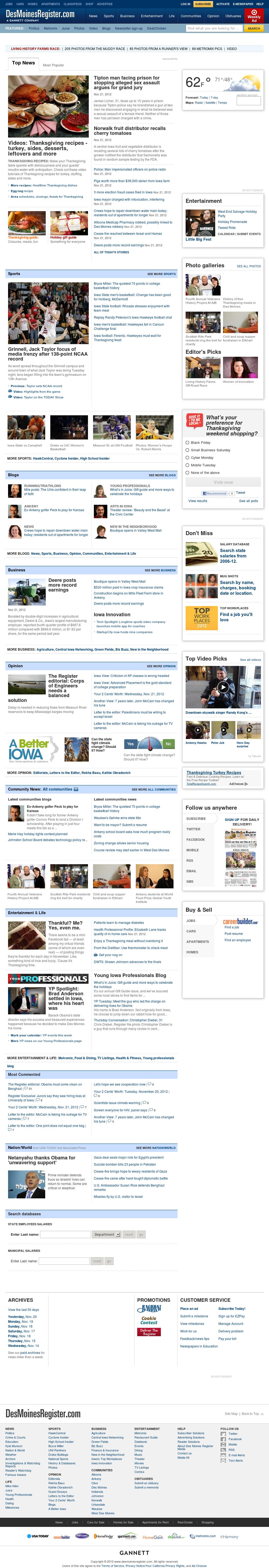DesMoinesRegister.com at Thursday Nov. 22, 2012, 9:07 a.m. UTC