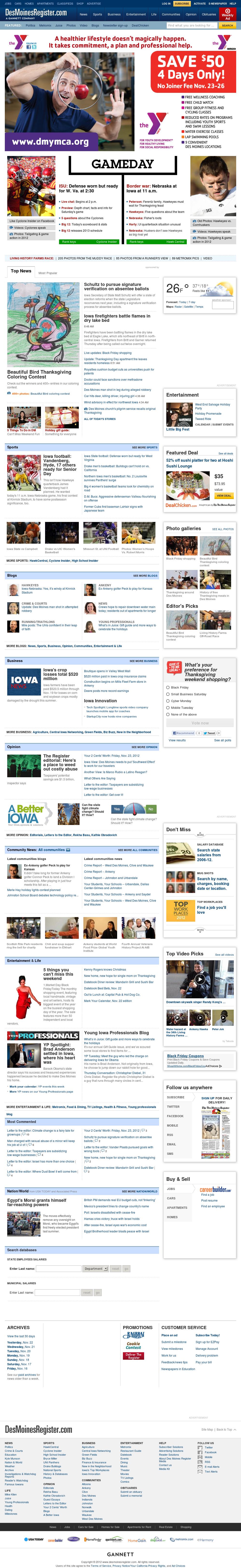 DesMoinesRegister.com at Friday Nov. 23, 2012, 3:07 p.m. UTC