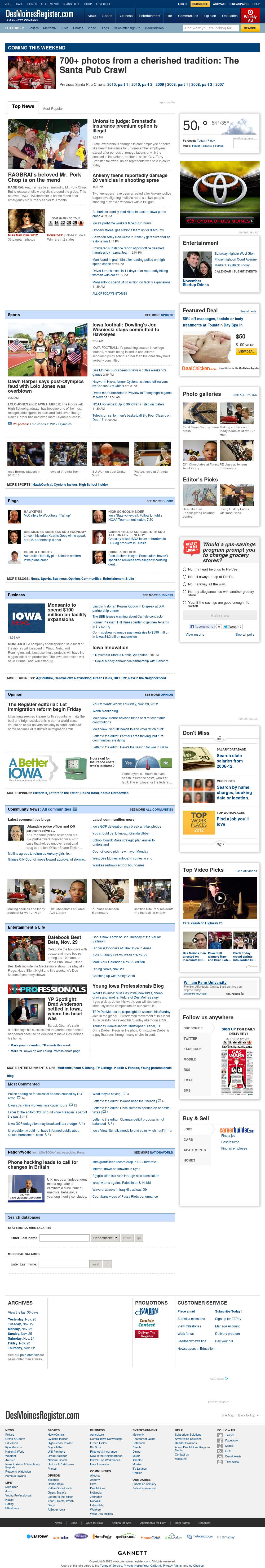 DesMoinesRegister.com at Thursday Nov. 29, 2012, 11:08 p.m. UTC