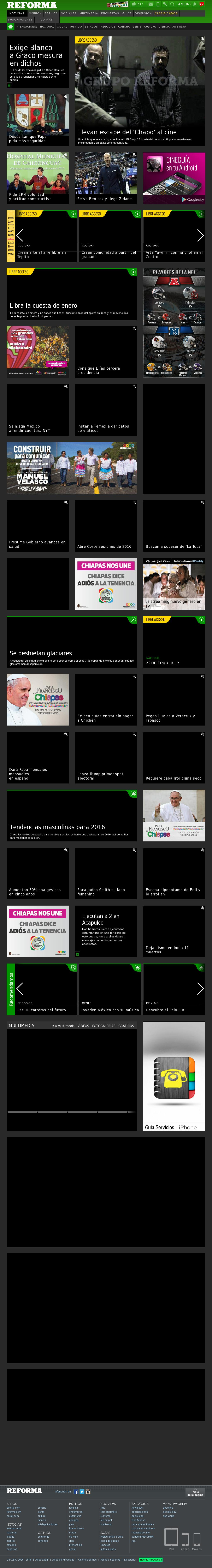 Reforma.com at Monday Jan. 4, 2016, 9:20 p.m. UTC