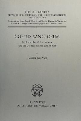 Cover of: Coetus sanctorum | Hermann Josef Vogt
