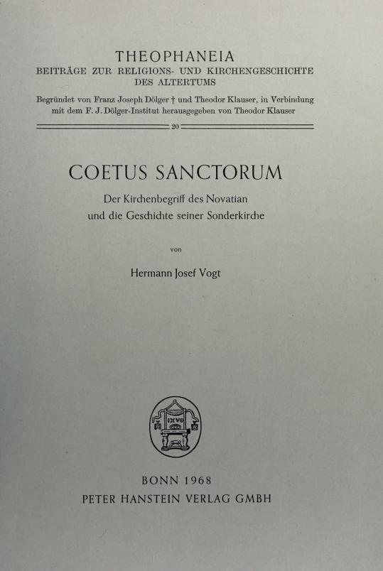Coetus sanctorum by Hermann Josef Vogt