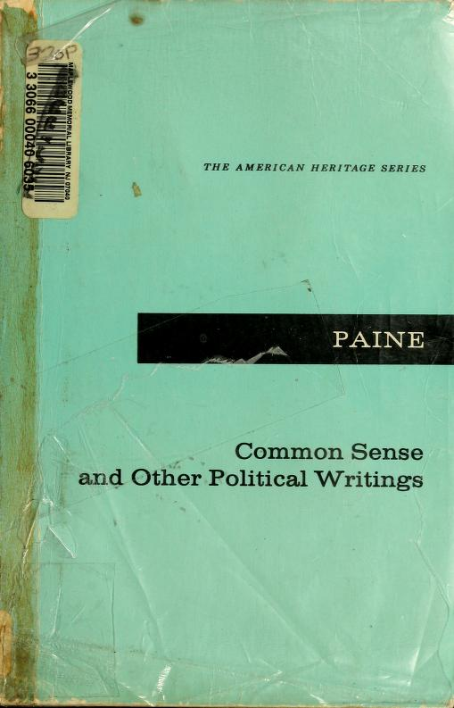 Common sense, and other political writings by Thomas Paine