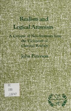 Cover of: Realism and logical atomism | Peterson, John