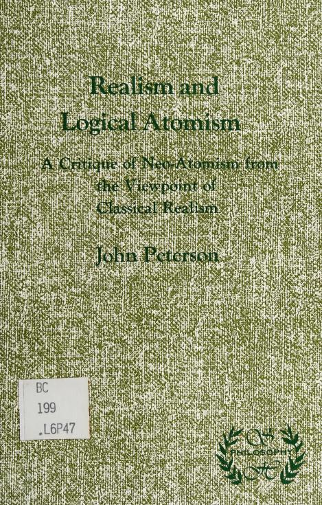 Realism and logical atomism by Peterson, John